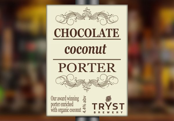 Chocolate Coconut Porter by Tryst Brewery
