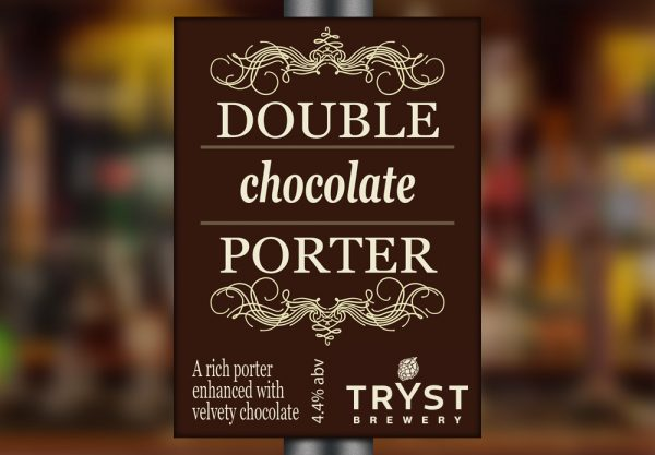 Double Chocolate Porter by Tryst Brewery
