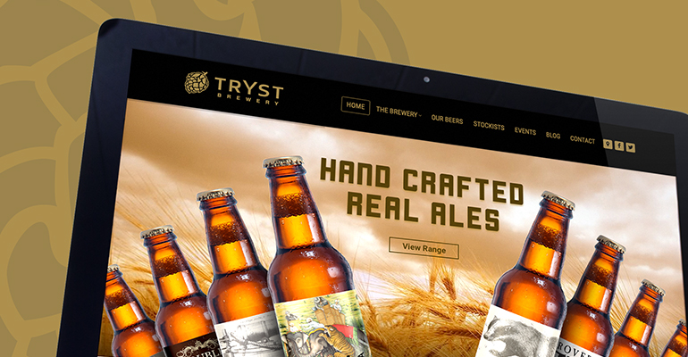 Our New Website - Tryst Brewery